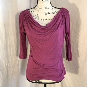 Banana Republic Woman's Peitie Purple Blouse Sz M